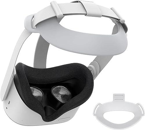 KIWI design Sangle de Tête pour Oculus Quest 2 Accessoires Réduction de Pression pour Quest 2 Support et Friction Amé...