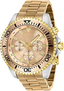 Invicta Men's Pro Diver Quartz Watch with Stainless Steel Strap, Rose Gold, 22 (Model: 27475)