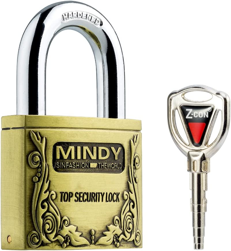 1-2//5-Inch Shackle A4-60 2-2//5-Inch Wide Body Mindy Padlock with Keys