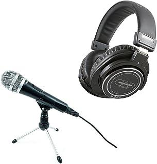 CAD U1 USB Dynamic Professional Podcast Studio Recording Microphone + CAD Audio MH320 Closed Back Studio Headphones Top Va...