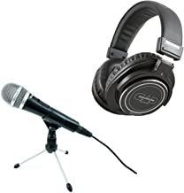 CAD U1 USB Dynamic Professional Podcast Studio Recording Microphone + CAD Audio MH320 Closed Back Studio Headphones Top Value Bundle!