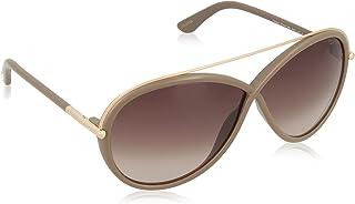 نظارات شمسية من توم فورد اوفر سايز للنساء مع عدسات بيج بتدرج بني FT0454 59K