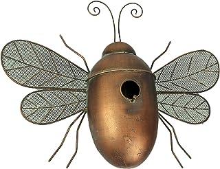 Rustic Metal Honey Bee Bird House Decorative Garden Decor Yard Tree Hanging Home