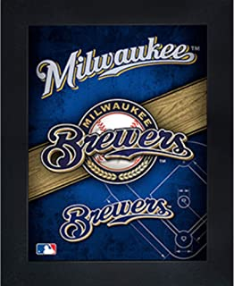 Milwaukee Brewers 3D Poster Wall Art Decor Framed Print | 14.5x18.5 | Lenticular Posters & Pictures | Memorabilia Gifts for Guys & Girls Bedroom | MLB Baseball Sports Team Fan Poster for Man Cave