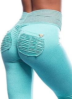 Aqua Summer Sorbet Active Women's Leggings Signature Scrunch Pockets