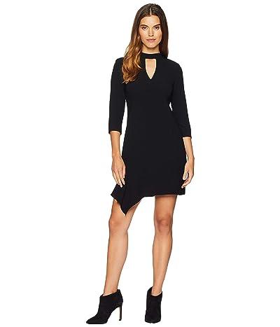 Nanette Lepore Heartthrob Crepe Dress (Black) Women