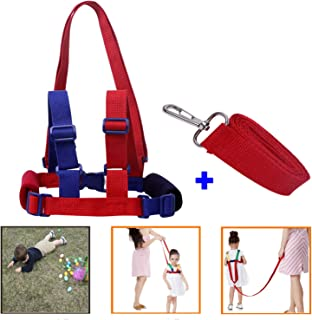 ALLYAOFA Safety Leash Anti-Lost, 2 in 1 Baby Safety Walking Harness Child Toddler Child Rope Leash Walking Hand Belt (Blue)