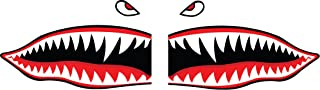 Flying Tigers Shark Teeth Decals Stickers Multiple Sizes! (6
