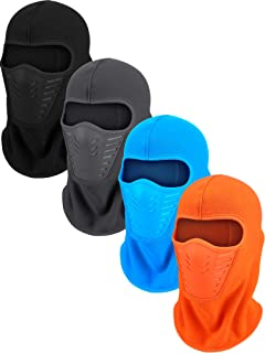 4 Pieces Cycling Ski Face Mask Winter Balaclava Windproof Mask Hunting Fishing Cap for Outdoor Accessories (Color Set 2)