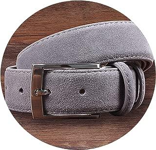 New Fashion Genuine Leather Suede Men's Belts Cowhide Belt