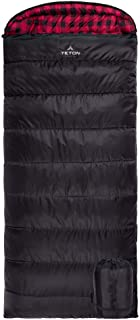 TETON Sports 101R Celsius XXL -18C/0F Sleeping Bag; 0 Degree Sleeping Bag Great for Cold Weather Camping; Black, Right Zip