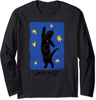 Jazzy the Cat, by Henri Catisse, fine art cat humor Long Sleeve T-Shirt