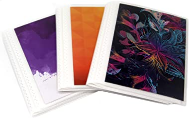 4 x 6 Photo Albums Pack of 3 - Brights, Each Mini Photo Album Holds Up to 48 4x6 Photos. Flexible, Removable Covers Come in V