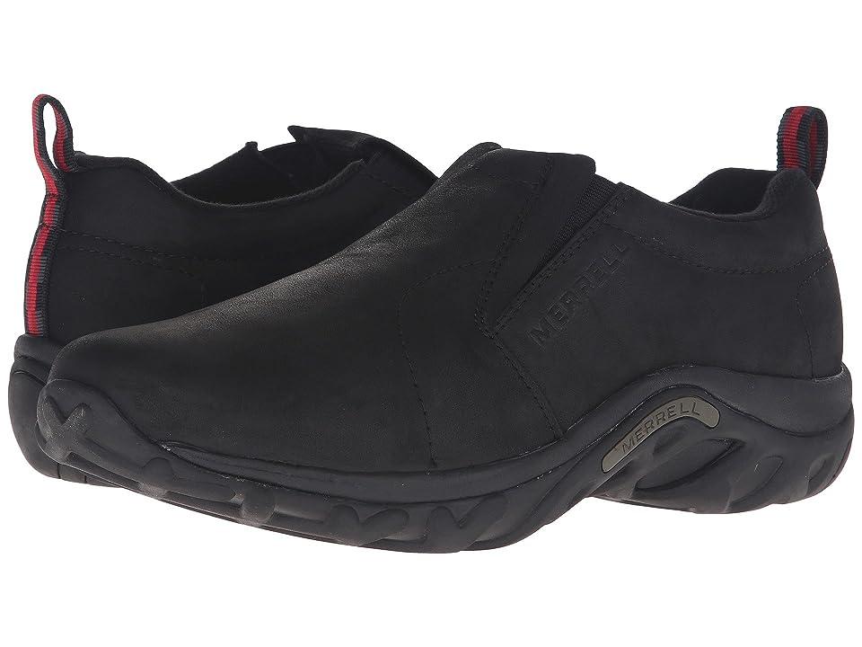 Merrell Jungle Moc Nubuck (Black Nubuck) Men's Slip on  Shoes