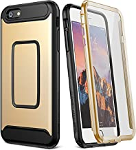 YOUMAKER Case for iPhone 6S, Full Body with Built-in Screen Protector Heavy Duty Protection Shockproof Case Cover for Apple iPhone 6S (2015) / 6 (2014) 4.7 inch - Gold/Black