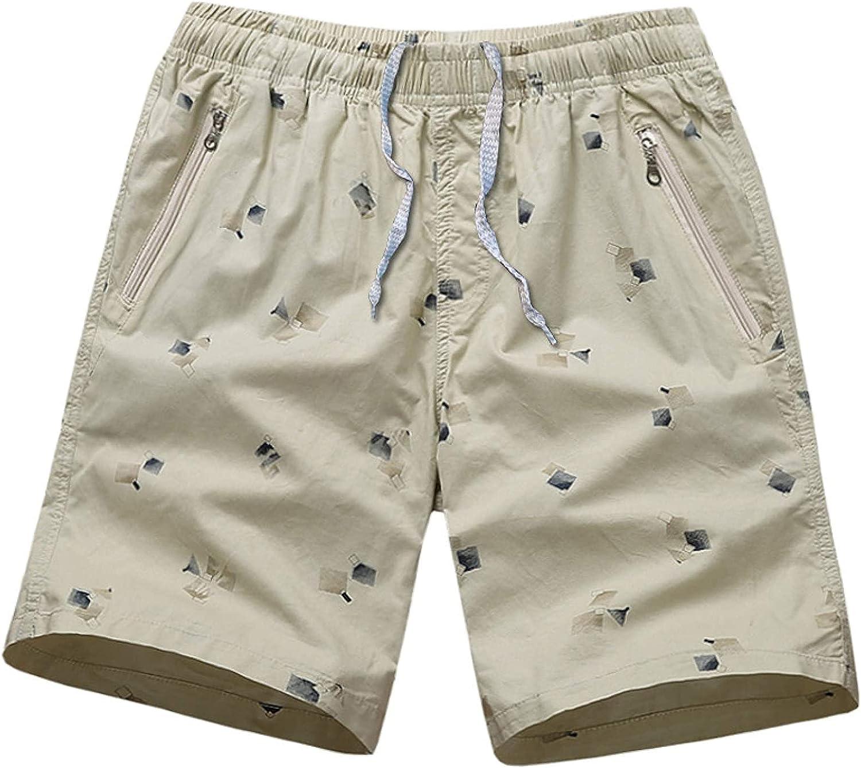 Men's Elastic Waist Plus Size Shorts Fashion Printed Simple Comfortable Trend