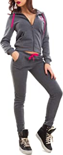69a64d6ccd9157 Toocool - Tuta Donna Completo Pantaloni Fitness Cappuccio Scritte Sport Zip  Nuova J906