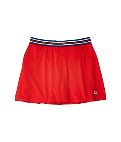 Fila Heritage Tennis A-Line Skort (Chinese Red/Navy) Women