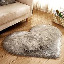 Qiyun Soft Artificial Plush Rug Chair Cover Warm Hairy Carpet Seat Pad