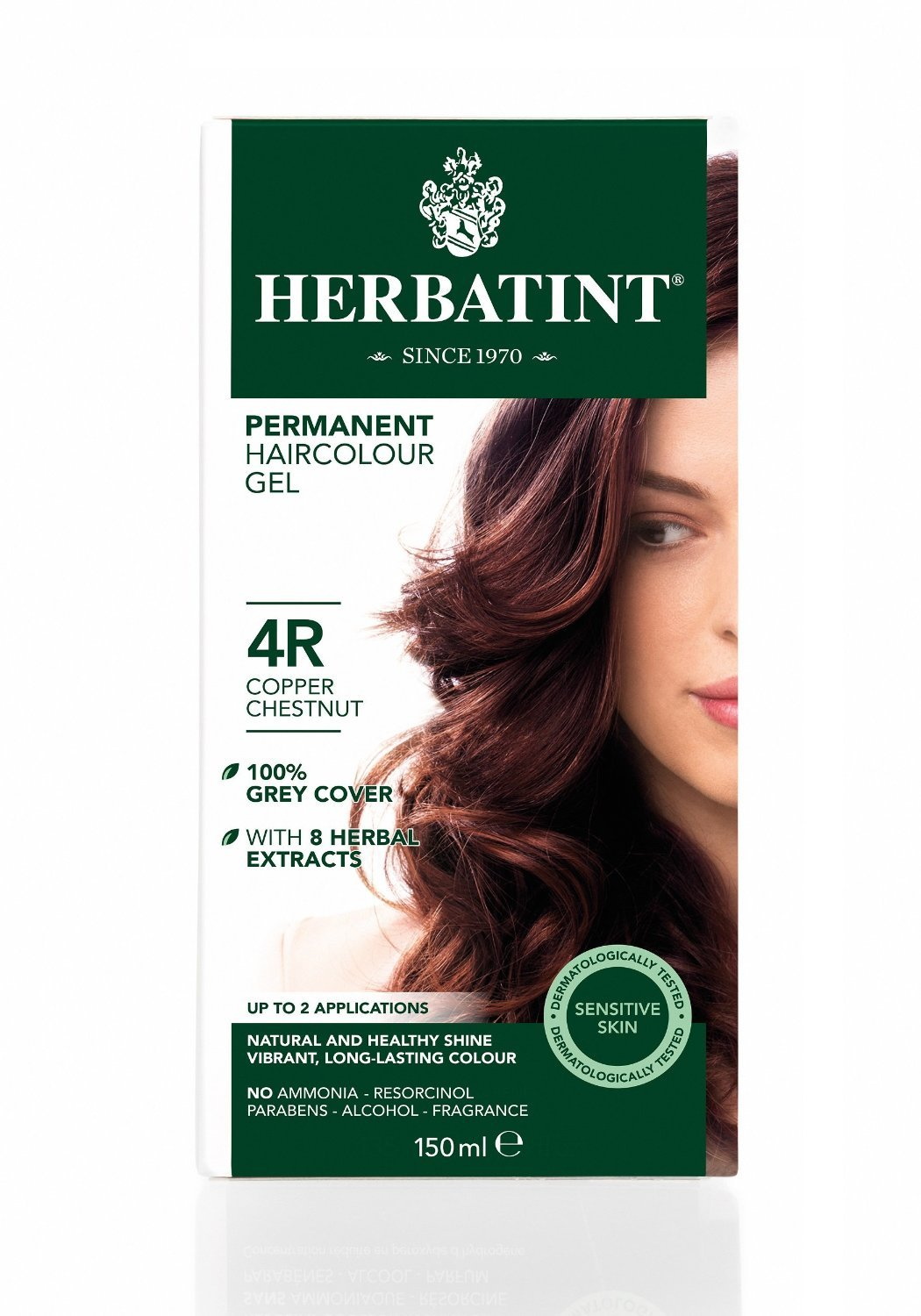 Herbatint 4R Permanent Herbal Copper Spring new work one after another Haircolor Chestnut Gel 4 years warranty Kit