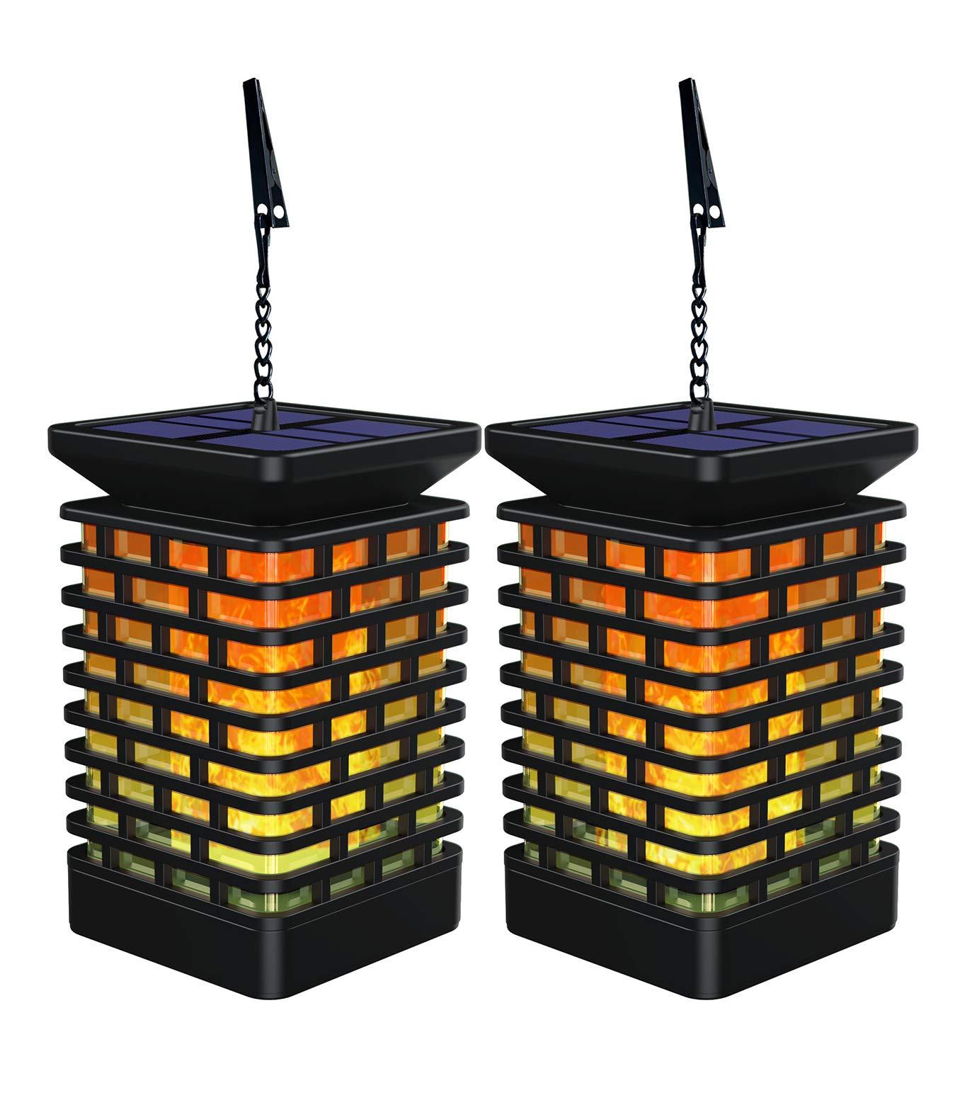 Martiount Linterna solar Luces de Jardín Farolillos Solares Exterior Llamas Lámpara con Llamas Parpadeantes para Decoración Jardín IP55 Impermeable 2 Pack: Amazon.es: Iluminación