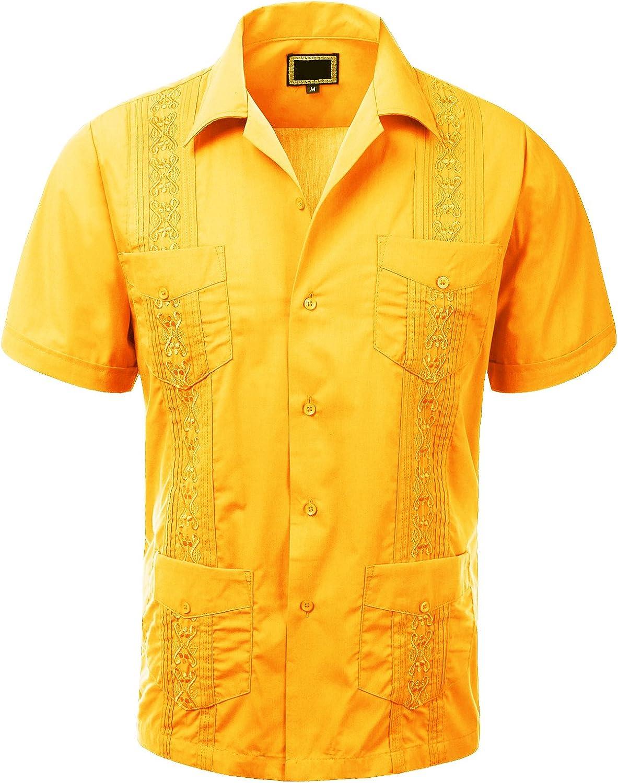 Guytalk Men's Cuban Guayabera Sleeve National uniform free shipping Short Challenge the lowest price Button-Down Shirt