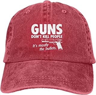 Guns Bullets Unisex Baseball Cap Cotton Denim Vintage Adjustable Sun Hat for Men Women Youth