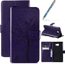 Robinsoni Case Compatibel met Galaxy C9 Pro Case PU Lederen Case Portemonnee Case Glossy Bling Cover Glitter Notebook Magn...