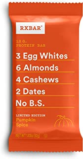 RXBAR, Pumpkin Spice, Protein Bar, 1.83 Ounce (Pack of 12), High Protein Snack, Gluten Free