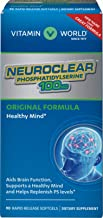 Vitamin World NeuroClear™ Phosphatidylserine 100 mg. 90 Softgels, PS Levels, Brain Support, Mental Focus, Rapid-Release, Gluten Free