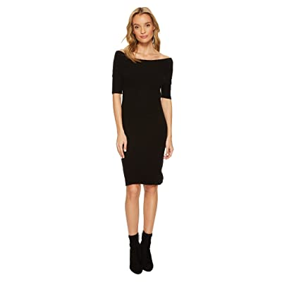 BB Dakota Porter Off the Shoulder Sweater Dress (Black) Women