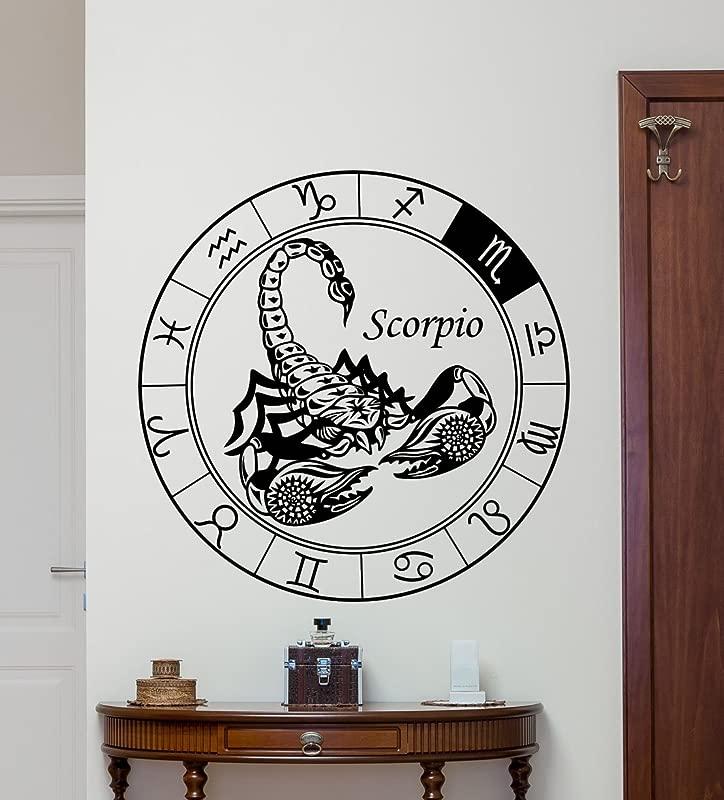 CarolGreyDecals Scorpio Wall Decal Astrology Horoscope Scorpio Zodiac Sign Vinyl Sticker Cool Wall Art Design Wall Decor Housewares Kids Boy Girl Room Bedroom Decor Removable Wall Mural 20hor