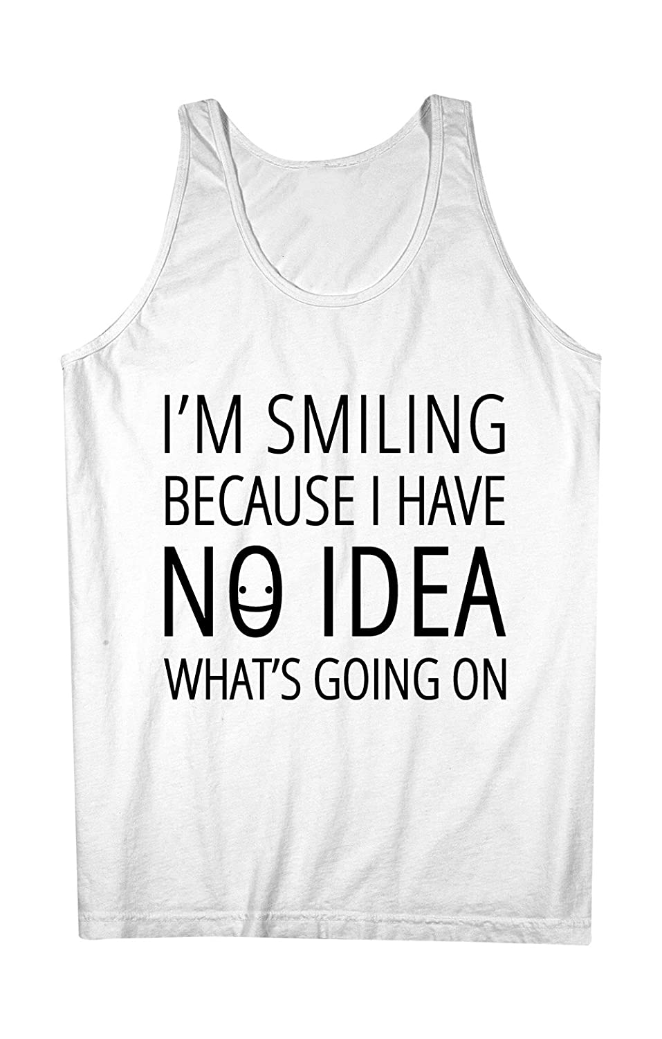 I'm Smiling Because I Have No Idea What's Going On おかしいです 男性用 Tank Top Sleeveless Shirt
