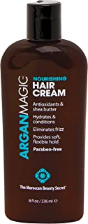 Argan Magic Nourishing Hair Cream - Hydrates, Conditions, and Eliminates Frizz | Paraben Free