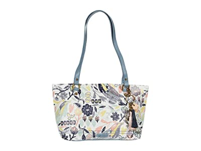 Sakroots Artist Circle Small Satchel (Multi Peace Birds) Tote Handbags