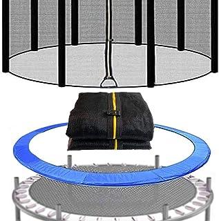 Ledph Filet Trampoline /ø305cm 8 Barres Noir Trampoline Filet Securite 10ft Accessoires de Trampolines de Loisirs