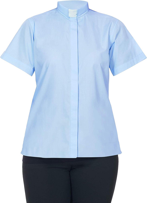 FHS Ladies Clergy Shirt Tab Collar - Short Sleeves
