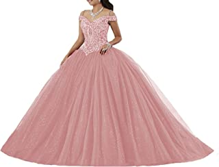 Women's Puffy Beaded Crystal Quinceanera Dress Ball Gownress