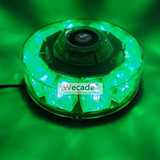 Wecade High Intensity 10 LED 30W Volunteer Firefighter Emergency Vehicle Magnetic Mount Strobe/Flash Beacon Warning Light (Green)
