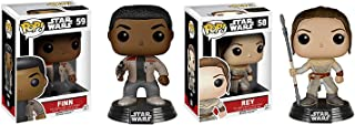 Funko POP Star Wars The Force Awakens: Finn and Rey 2 Piece BUNDLE