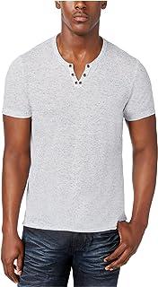 INC International Concepts Men's Dean Split-Neck Heathered T-Shirt