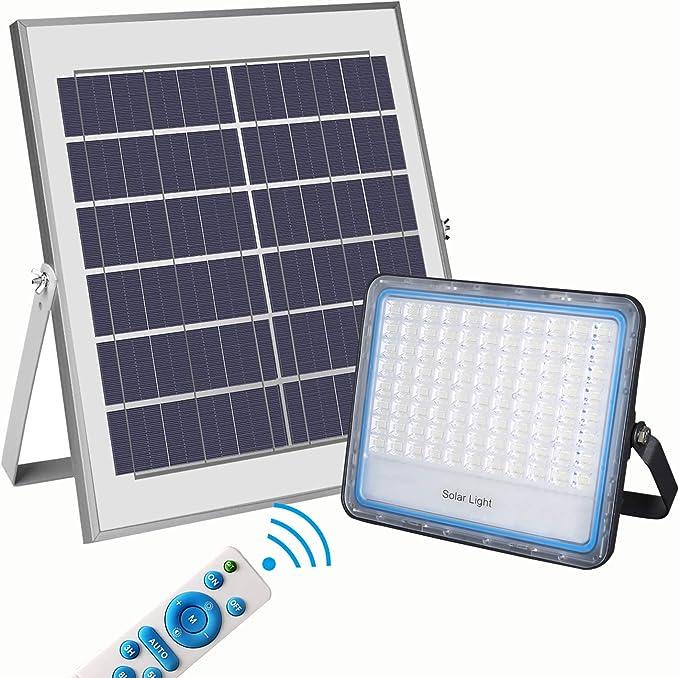 146 opinioni per Kingwei 100W Faro LED Esterno con Pannello Solare Luce Bianca 6000K Faretto