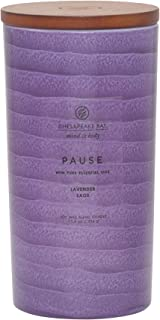 Chesapeake Bay Candle Mind & Body Serenity Scented Candle, Pause with Pure Essential Oils (Lavender and Sage), Large