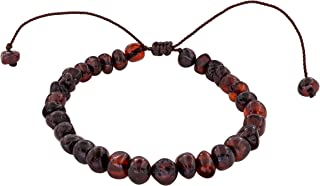 Adjustable Adult Baltic Amber Bracelet, (6.3
