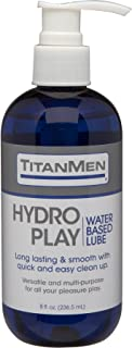 Doc Johnson TitanMen - Hydro Play Water Based Lube - Long lasting & Smooth with quick & easy clean up - Versatile and mult...