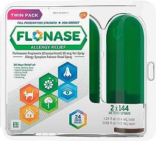 Flonase Allergy Relief Nasal Spray, Allergy Medicine 24 Hour Non-Drowsy , 288 sprays (pack of 2)