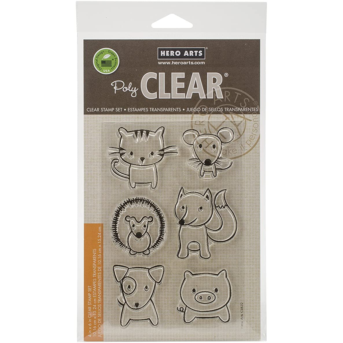 Hero Arts CL832 Clear Stamps, Playful Animal