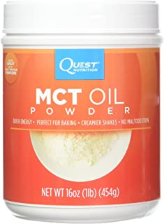Quest Nutrition MCT Powder Oil, 16 Ounce (Pack of 2)