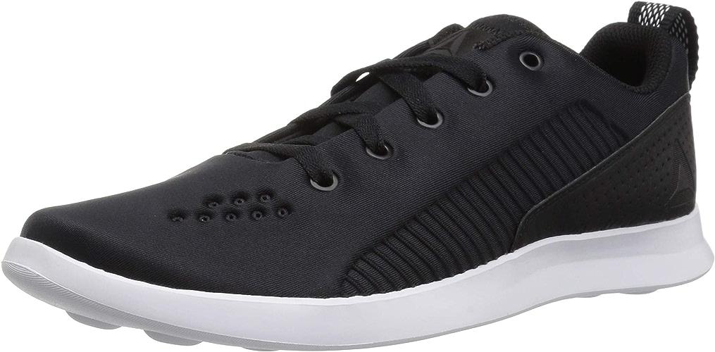 Reebok Wohommes Evazure DMX Lite Walking chaussures, noir blanc, 6.5 M US