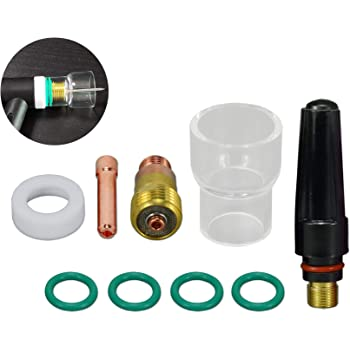 TIG Stubby Gas Lens Collet Body 1//16 1.6mm 17GL116 Collet 10N23S Pyrex Cup #12 Kit For DB SR WP 17 18 26 TIG Torch 26pcs
